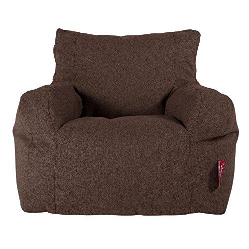 Lounge Pug®, Puff Sillón, Lana de Interalli - Marrón