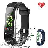 HUPPER Fitness Armband Uhr mit Pulsmesser Smart Fitness Trackers Wasserdicht IP67 für Android Smartphone und iPhone