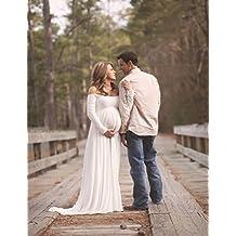 NiSeng Mujeres Embarazadas Fotografía Accesorios Gasa Hombros Vestido Mujeres Embarazadas Cámara De Fotos Vestido