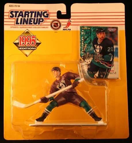 BOB CORKUM / MIGHTY DUCKS OF ANAHEIM 1995 NHL Starting Lineup Action Figure & Exclusive NHL Collector Trading Card by Starting Line Up Kenner Line
