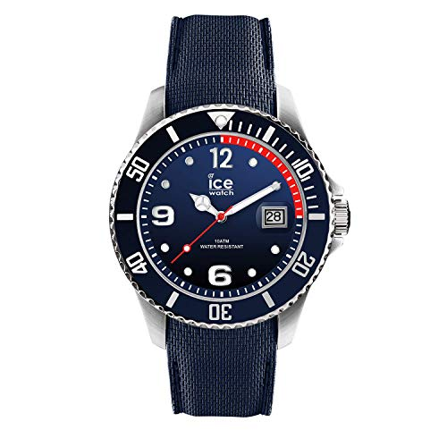 Ice-Watch - Ice Steel Marine - Blaue Herrenuhr mit Silikonarmband - 015774 (Large)