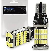 Safego 2x 1000 lúmenes T15 W16W CANBUS Libre De Errores 921 912 4014 45 de BT de Chipsets bombillas LED para luces de copia de seguridad inversa, Xenon Blanca, 6000K T15 LED de Backup de peras de luz trasera de LED coche luz del revés Bulbos
