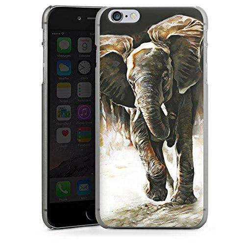 Apple iPhone X Silikon Hülle Case Schutzhülle Elefant Natur Zeichnung Hard Case anthrazit-klar