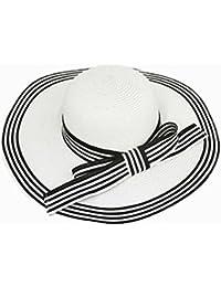 AN Summer Lady Europa e America Cappello di Paglia Visiera Cappello da Sole Cappello  da Spiaggia 95260e06bba0