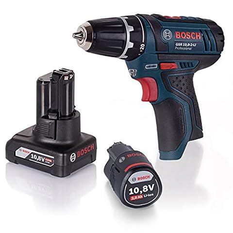 Bosch POWERSET Akku-Bohrschrauber GSR 10,8-2-Li + GBA 4,0AH + GBA 2,0AH Li-Ion