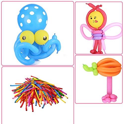 yuoi 100 stücke mischfarbe magische lange tierbindung magische luftballons verschiedene farbe lange luftballons für tiere form party geburtstag twist latex ballon