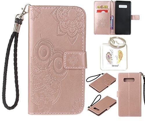 """Preisvergleich Produktbild für Samsung Galaxy Note 8 PU Leder Silikon Schutzhülle Handy case Book Style Portemonnaie Design für Samsung Galaxy Note 8 (5,7"""") + Schlüsselanhänger ( ESZ (4)"""
