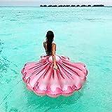Flamingo Schwimmring aufblasbarer Ananas Luftmatratzen aufblasbar Flamingo aufblasbare Luftmatratze Pool-Lounger Spielzeug für Erwachsene Kinder Spielzeug Schwebebett Wasserspielzeug mit schnellen Ventilen (Pink Muscheln)