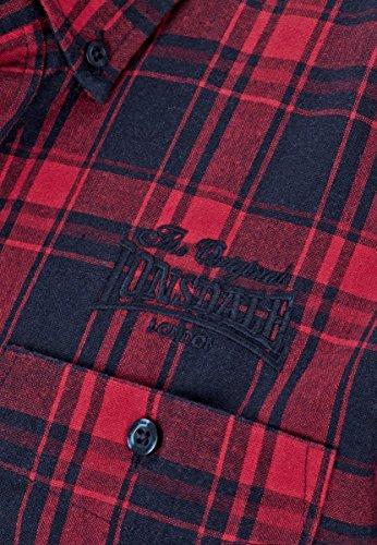 Lonsdale Hemd Longsleeve Thainstone navy/dark red