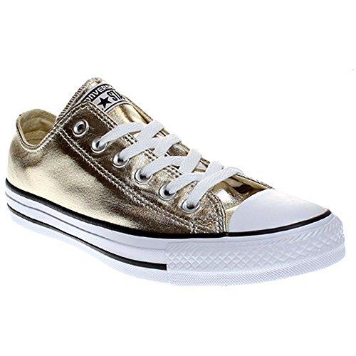 Converse Unisex-Erwachsene Seasonal Metallic Sneaker Mehrfarbig (Light Gold/White/Black) 36 EU