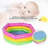 Zerodis Spielzeug Runde Pool DREI Schicht Regenbogen Aufblasbare Spielzeug Tragbare Outdoor Indoor...