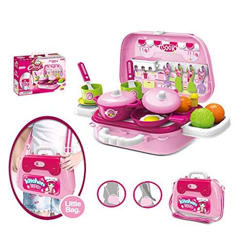 Kochset Pretend Kitchen Playset mit Herd, Töpfen, Utensilien, Gemüse und Spielwaren Lernspielzeug für Kinder und Kleinkinder ()