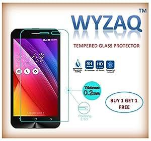 WYZAQ (BUY1 GET 1 FREE), Tempered glass Screen Guard protector, for PANASONIC ELUGA MARK