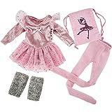 Käthe Kruse 0141802 Ballerina Outfit rosa S 41-43 cm