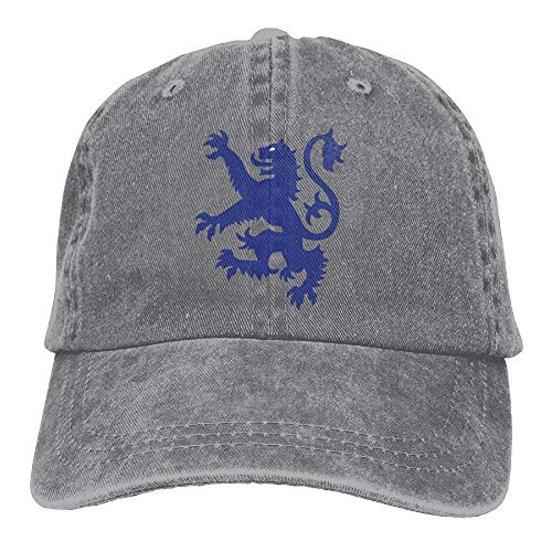 KKAIYA Lion Rampant Scotland Scottish Plain Adjustable Cowboy Cap Denim Hat for Women and Men -
