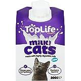 toplife lactosa para gatos Vacas Leche Reduce 200 ml (Paquete con ...