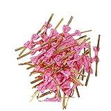 50 Metallischen Bindebaender Bowknot Cake Pop Dichtkissen Lutscher Packung Rote Rose