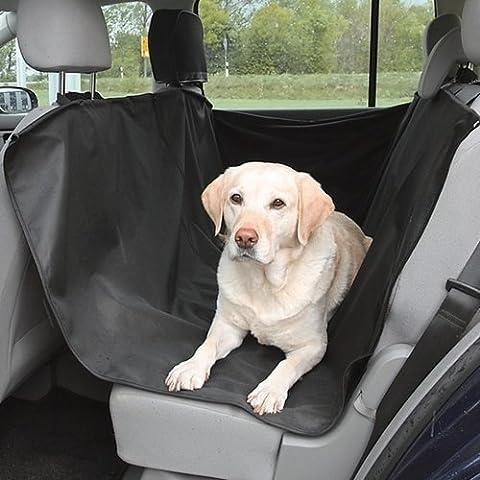 Tooltime - Cubierta protectora impermeable de asiento trasero para mascotas, color negro
