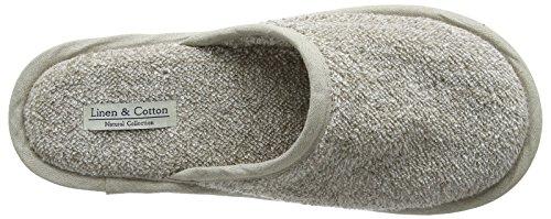 Linen & Cotton, Chaussons de Bain de Luxe Beige