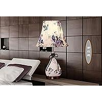 BBSLT Moderno e creativo di antiquariato cinese decorativo camera da letto in pelle den soggiorno lampada da tavolo , viola le rose