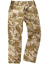 6 Pocket Camouflage Combat Cargo Trousers - British Desert