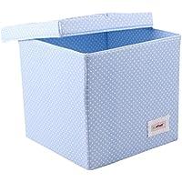 Preisvergleich für Minene 1555 Aufbewahrung Würfel Box, Hellblau mit weiße Punkte