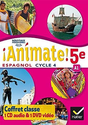 Animate Espagnol 5e éd. 2016 - Coffret CD Audio DVD