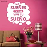 zqyjhkou Vinile Adesivo Adesivo Spagnolo Latino Messicano Pegatina Home Decor Quote Wallpaper Moveable57X55CM
