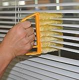 uchic 1pistes utiles microfibre fenêtre Brosse de nettoyage Nettoyant climatisation Duster avec lavable Store Pinceau Nettoyer Nettoyant