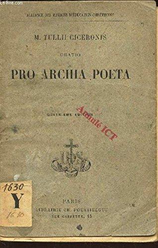 PRO ARCHIA POETA - TEXTE LATIN / COLLECTION