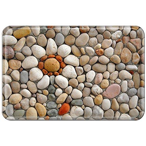 Violetpos Fußmatte 45 x 75 cm Bunte Stein Fußmatten / Sauberlaufmatte für Innen & Außen (Golf Dogge)