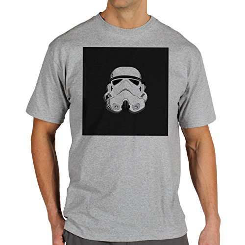 Star Wars Battlefront Jedai Yedi Game Storm Trooper Helmet Two Background Herren T-Shirt Grau