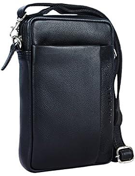 STILORD 'Fiete' 2-in-1 Umhängetasche / Handgelenktasche Leder Herren multifunktionale Handtasche mit abnehmbarem...