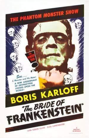 THE BRIDE OF FRANKENSTEIN 1935 - Imported Movie Wall Poster Print - 30CM X 43CM Brand New BORIS KARLOFF -