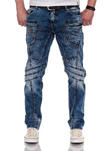 Cipo & Baxx Herren Herren Jeans mit Kontrastnähten