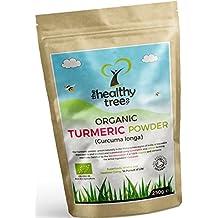 Polvere di Curcuma BIO con Proprietà Antinfiammatorie e Antiossidanti - Polvere Pura di Curcumina Certificata Dalla Soil Association by TheHealthyTree Company