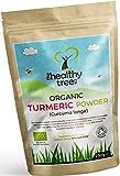 Cúrcuma Orgánica en Polvo de TheHealthyTree Company - Curcumina de cúrcuma natural y pura en polvo certificada por la Soil Association