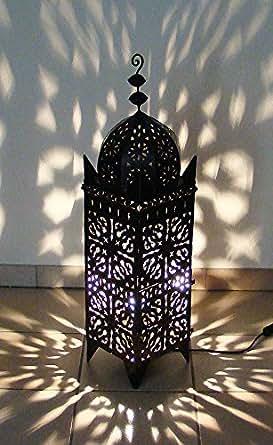 Lampe photophore marocain électrifié 95cm en fer forgé