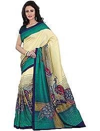 Samskruti Sarees Artificial Silk Saree With Blouse Piece (Spas-81_Beige_Free Size)