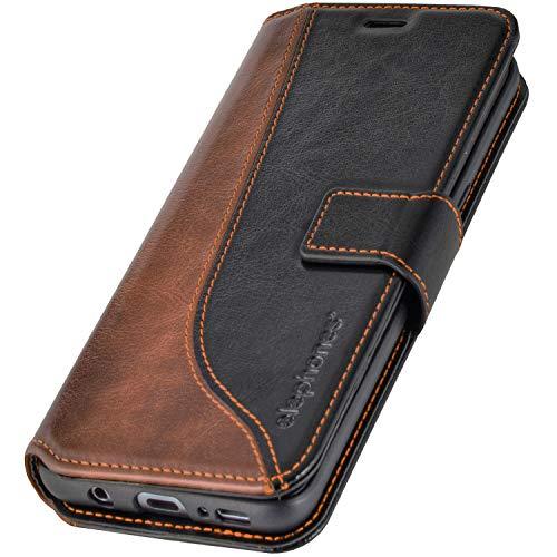 elephones® Samsung Galaxy S8 Hülle Handyhülle für S8 - Kompatibel mit Galaxy S8 Flip Case Schutzhülle - Schwarz (CTS8BLK)