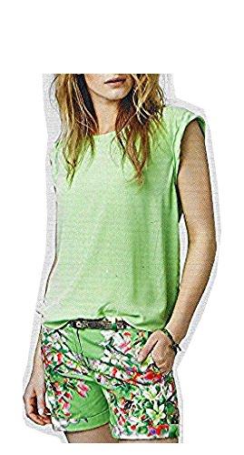 Mexx Shorts mit Blumedruck-Grün-42