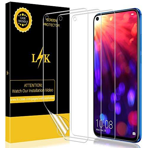 LK [3 stück] Schutzfolie für Huawei View 20 / Nova 4 (Premium-Qualität) Bildschirmschutzfolie Anti-Bubble [volle Abdeckung] HD Klar Folie [Lebenslange Ersatzgarantie]