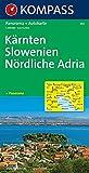 Kompass Panorama-Karten, Kärnten, Slowenien, Nördliche Adria (Nr.352) -