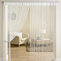 Give creative elegance a string welcome to your living space this season with this coloured string curtain. Stunning door curtain to add that final touch of decoration to your door or room. This string door curtain comes with slot top for poles or ro...