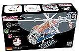 Metallbaukasten Hubschrauber Polizei 757 Teile Maßstab 1:32 Batterie Rotor mit Funktion Werkzeug Set ab 14 Jahren Anleitung Erwachsene Metallbaukästen Metallbautechnik Lernfeld Profi Tronico