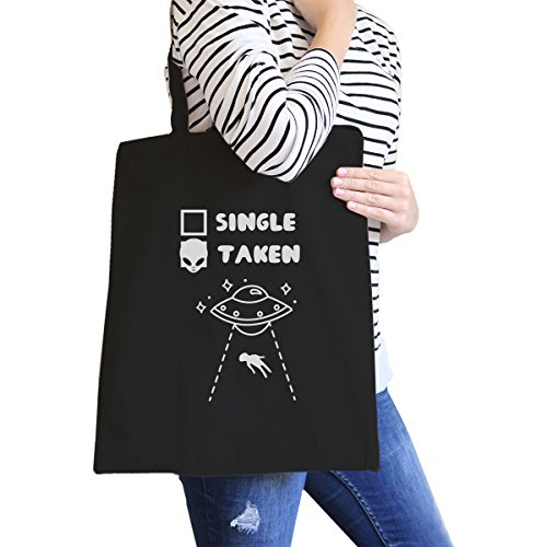 365 Printing inc , Borsa da spiaggia  Donna Single Taken Alien - Natural taglia unica Single Taken Alien - Black