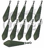 10x Poids de pêche à la carpe Attaquer 42,5gram 56,7gram 70,9gram 85gram 99,2gram Distance même Style livres toutes les tailles (10x 85gram)