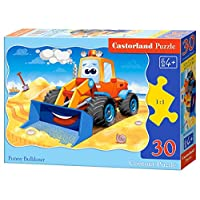 Castorland B-03600 Classic Funny Bulldozer Contour Jigsaw Puzzle, 30 Pieces Set, Multicolour