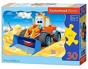 Castorland B-03600 - Puzzle de 30 Piezas, diseño de Bulldozer