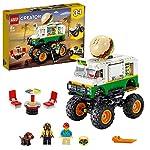 LEGO Creator3in1 MonsterTruckdegliHamburger Fuoristrada Trattore, Set di Costruzioni,Collezione Veicoli, 31104  LEGO